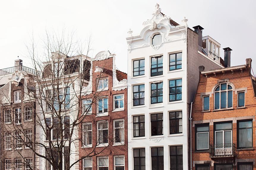 Vackra hus i Amsterdam