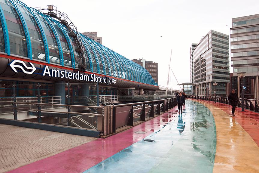 Resedagbok Amsterdam: Tåget till Sloterdijk