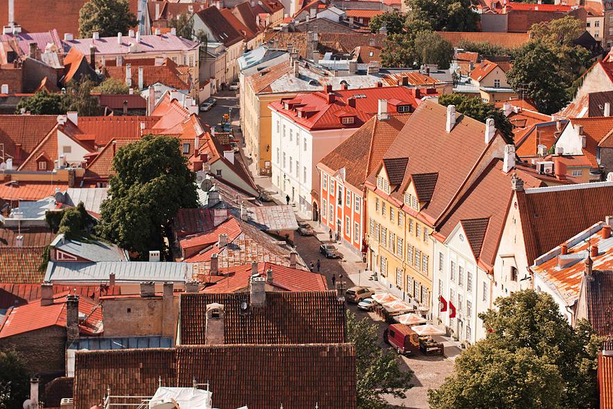 Utsikt från Sankt Olavs kyrka