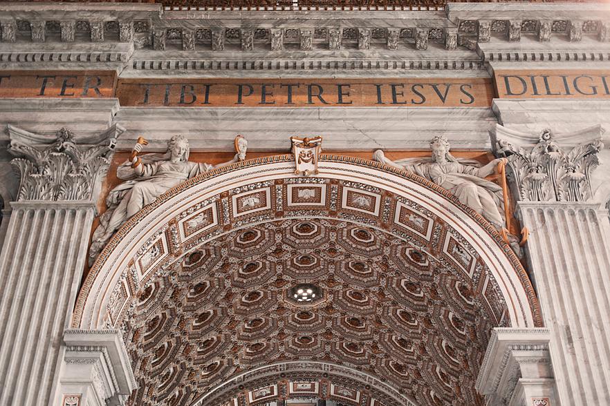 Inuti Peterskyrkan