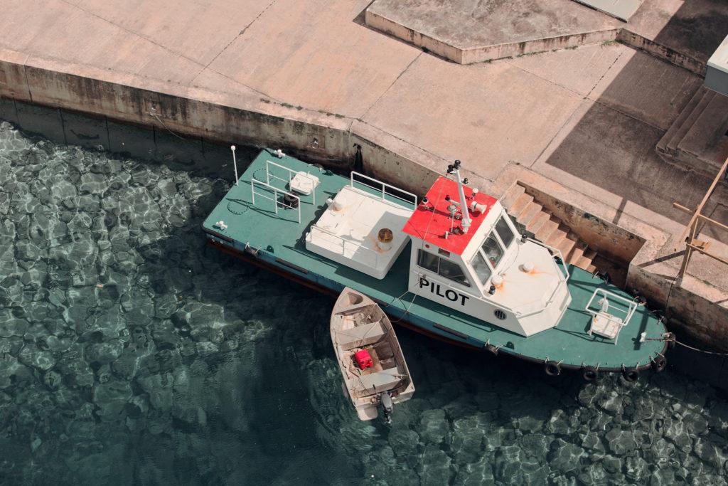 Utsikt över Port Vila från fartyget