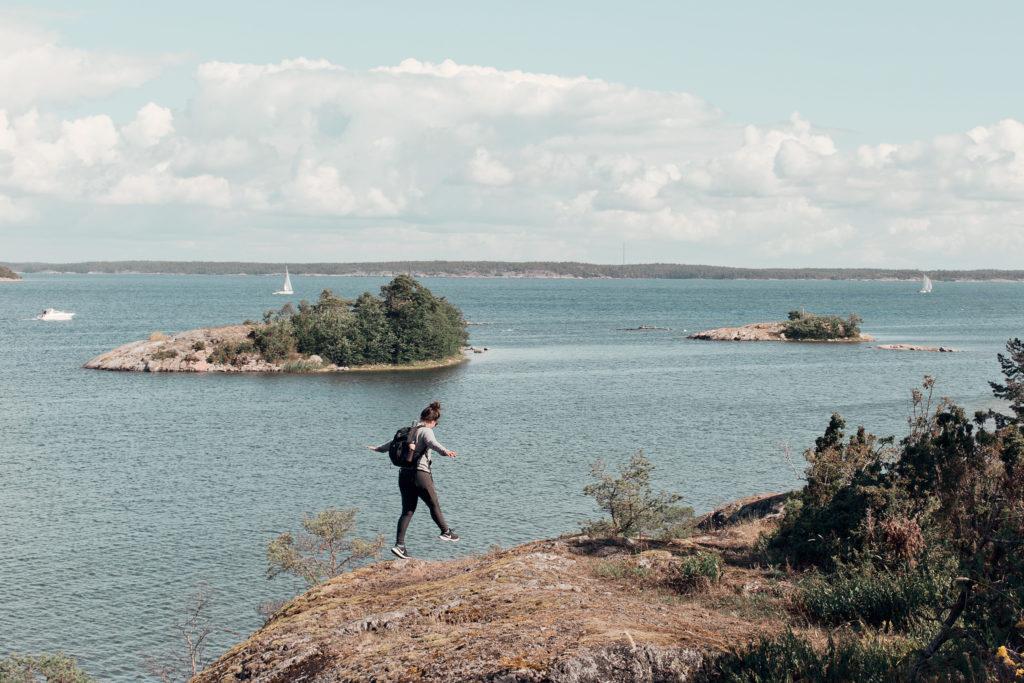 Vandring längs med Utös norra udde