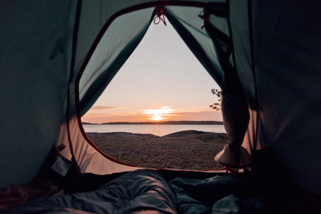 En orolig natt i tältet