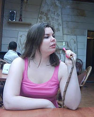 Johanna i på julafton på ett café i Aaley