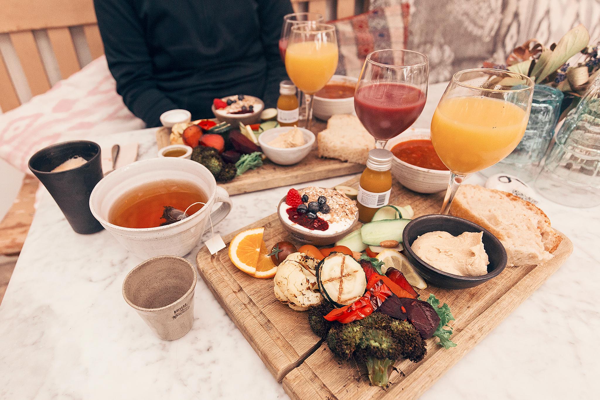 Frukost på Mölle Krukmakeri